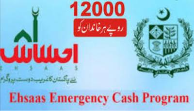 Ehsaas Emergency Cash Programme: 146,901 persons provided financial assistance