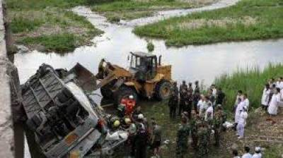 Bus plunges into lake in southwest China, killing 21
