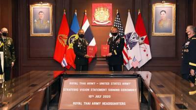 US, Thailand sign Strategic Vision Statement July 10, 2020
