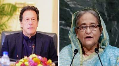 Imran Khan, Sheikh Hasina exchange views on steps to deal with coronavirus challenges July 22, 2020