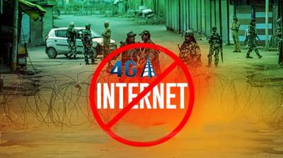 Ban on high speed internet service in IIOJ&K extended till August 19 July 30, 2020