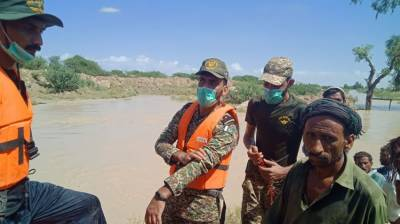 Relief, rescue operation underway in Dadu, Jhal Magsi August 10, 2020
