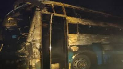 Five killed as bus catches fire in India August 12, 2020