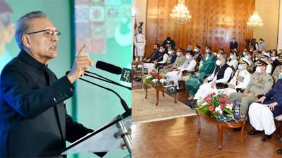 President reaffirms Pakistan's support to Kashmiris August 14, 2020