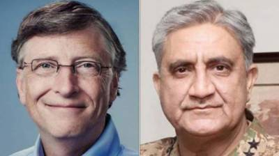 COAS, Bill Gates discuss Pakistan's Covid-19 response, resumption of Polio campaigns August 15, 2020