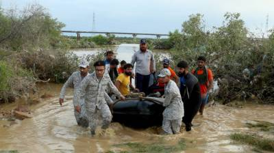 Pakistan Navy continues relief, rescue operation in rain-hit Karachi August 27, 2020