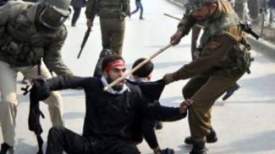 Indian forces use brute force on Muharram procession in Srinagar August 28, 2020