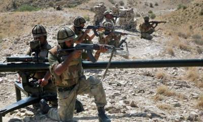 Pakistan Army dismantle terrorist network in Balochistan, 4 terrorists killed with huge arms recovery