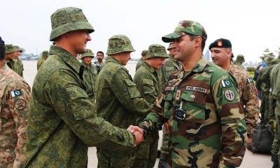 Pakistan Army troops participate in the multi national military drills in Russia