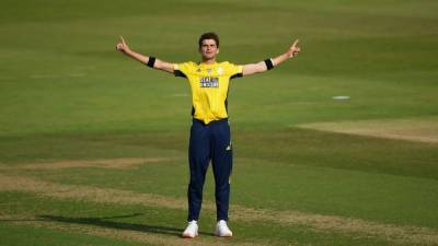 (VIDEO): Pakistani pacer Shaheen Shah Afridi 4 for 4 in the T20 blast