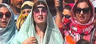 Mishaal Malik leads the women rally in Islamabad against Indian government atrocities in IOK
