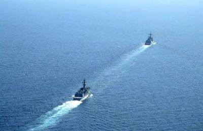 Pakistan Navy held military exercise with South Korean Navy