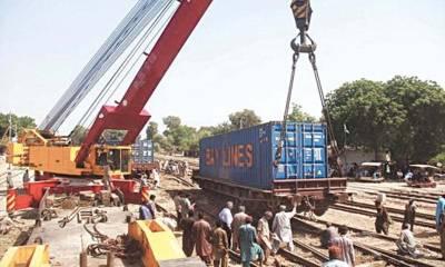 Pakistan Railways train derailed