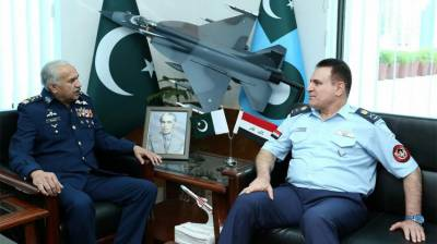 Commander Iraqi Air Force vows to enhance military ties with PAF