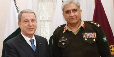 COAS General Bajwa held important meeting with Turkish Defence Minister