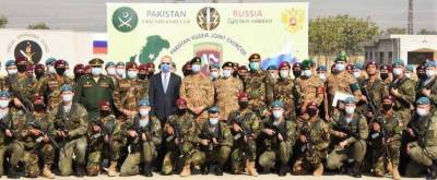 Russian Ambassador attends inauguration ceremony of Pakistan Russia military drills in Tarbela