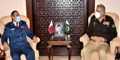 Qatari Air Force Chief held important meeting with COAS General Qamar Bajwa at GHQ
