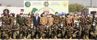 """Pakistan - Russia joint military drills """"Druzba 2020"""" conclude at Tarbela"""