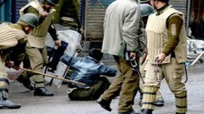 Indian troops forcing Muslim ok Occupied Kashmir to chant Hindu slogan 'Jai Shri Ram'