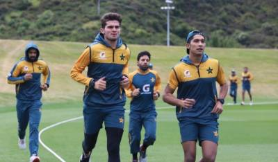 Pakistani cricket squad in New Zealand returned to the field for first practice session