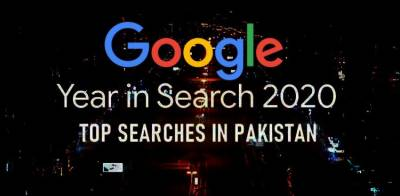 Google top 10 trending searches for Pakistan in 2020