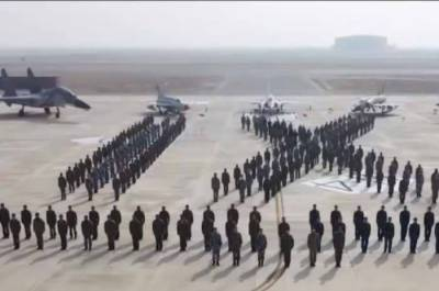 Pakistan and Chinese Air Forces joint military exercise near the Indian borders