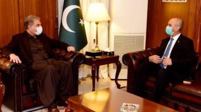 Pakistan FM Shah Mehmood Qureshi held important meeting with Afghan Ambassador