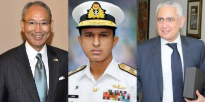 Pakistan Navy Chief held important meetings with Japanese and Egyptian Ambassadors in Islamabad