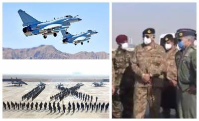 COAS General Bajwa witnesses Pakistan and Chinese Air Force joint war game at PAF Base