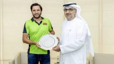 Former Skipper Shahid Afridi joins Lahore Qalandars for T10 league