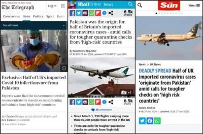 UK paper accepts false headlines in accusing Pakistan over spreading Coronavirus in UK