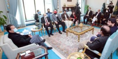 PM Imran Khan met team Drillis Ertugrul in Islamabad