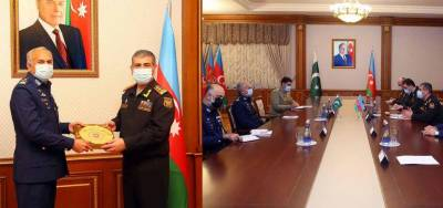 PAF Chief along with high level delegation held important meetings in Azerbaijan to enhance military cooperation