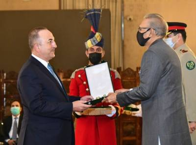 Pakistan conferred Turkish Foreign Minister with Hilal e Pakistan award