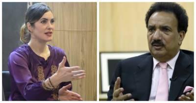 Drop scene in the tussle drama between Senator Rehman Malik and the US blogger Cynthia D Ritchie