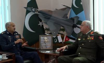 Jordanian Armed Forces Chief held meeting with PAF Chief at AHQ