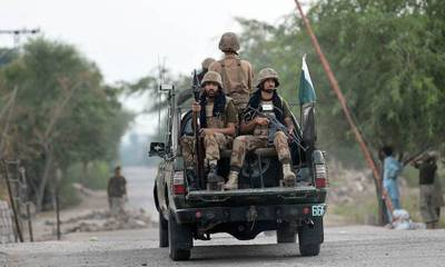 Secuirty Forces killed three terrorists in an IBO close to Pak Afghan border