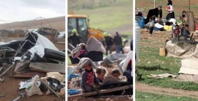 Israeli Army razed Palestinian Bedouin village in Occupied West Bank