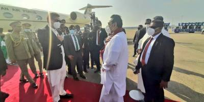 Pakistani PM Imran Khan given Red carpet welcome upon arrival in Srilanka