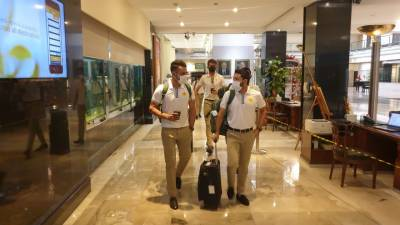 Pakistan's 34 member squad leaves for South Africa via chartered flight