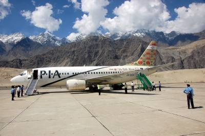 PIA makes historic first ever flight from Lahore to Skardu