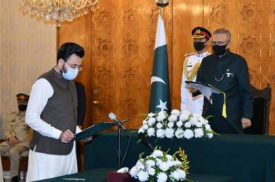 Farrukh Habib takes oath as Minister of State for Information and Broadcasting