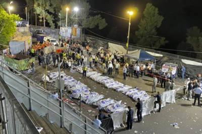 Over 144 Jews killed and injured in a stampede in Israeli religious festival