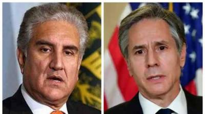 Pakistani FM Shah Mehmood Qureshi spoke with US Secretary of State and discussed Palestine conflict