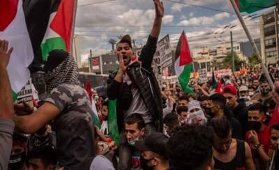 Thousands of protestors marched in major European cities in support of Palestinians