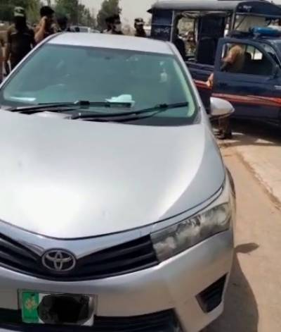 Car of Chinese man came under fire in Lahore