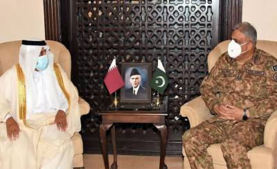 Top Qatari official held important meeting with COAS General Bajwa at GHQ