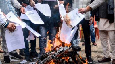 Indian farmers protest intensified against the PM Modi government
