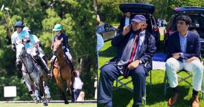 Former PM Nawaz Sharif spotted enjoying polo match in Guards Polo Club In England