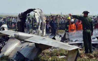 Military plane crashes killing 12 onboard